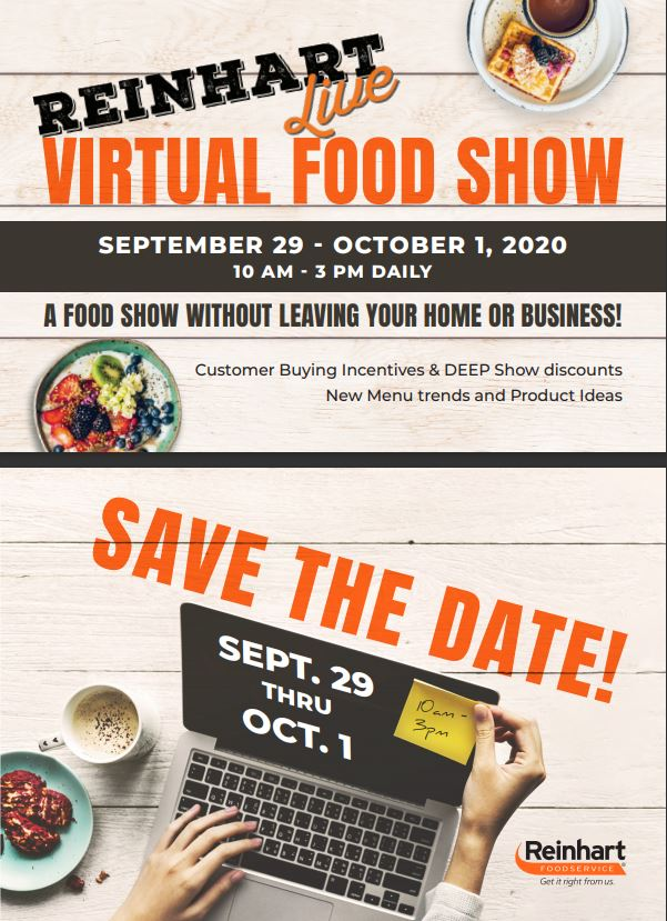 Reinhart Virtual Live SAVE THE DATE